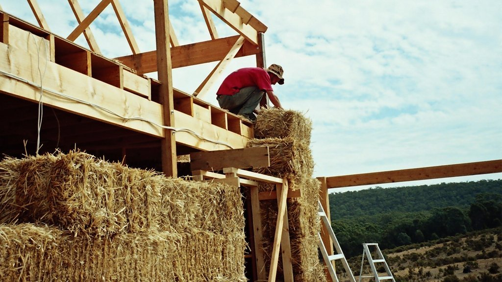 Straw Bale Installation