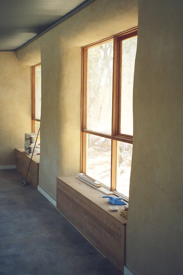 windows in a straw bale house