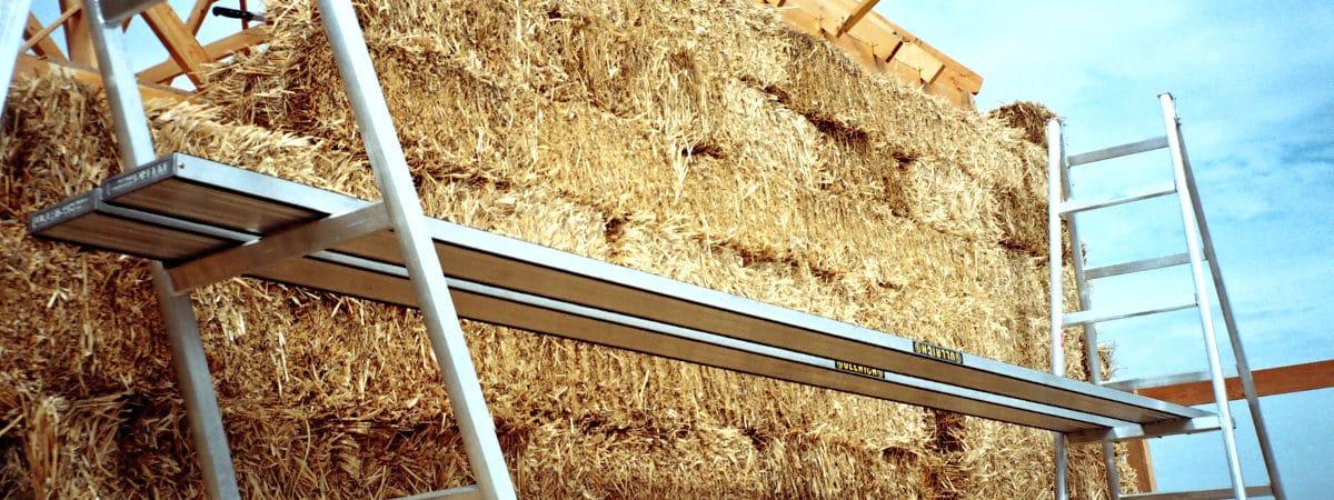 straw bale house wall