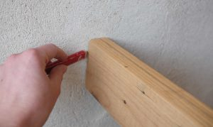 holding and marking timber vertically