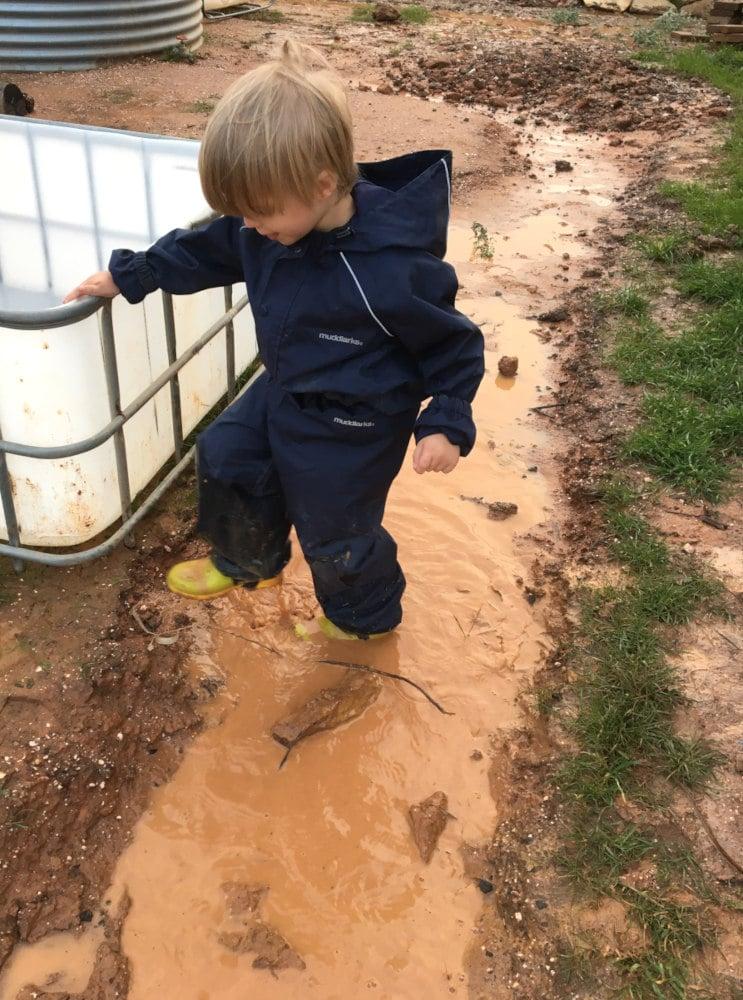 Wet soil in cooler months
